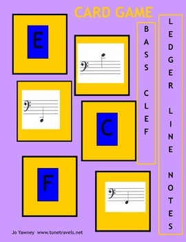 Music: Bass Clef Ledger Lines Card Game