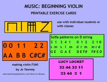 Music: Beginner Violin Exercises
