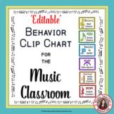 Music Behavior Clip Chart - 'EDITABLE'