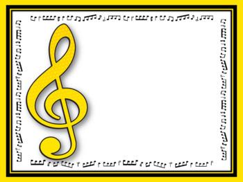 Music Behavior Chart - 'EDITABLE'