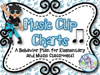Music Behavior Clip Charts {A Behavior Plan for Elementary and Music Classrooms}