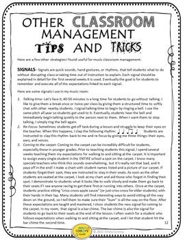 Music Behavior Management (Classroom Management Tips and Tricks!)