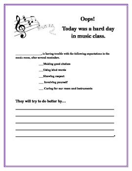 Music Behavior Note