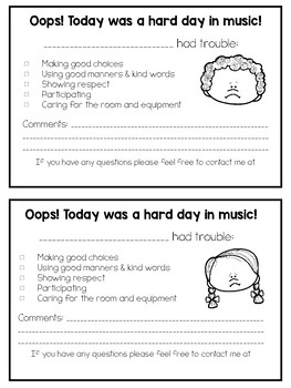 Music Behavior Note