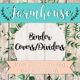 Music Binder Covers - Farmhouse Theme
