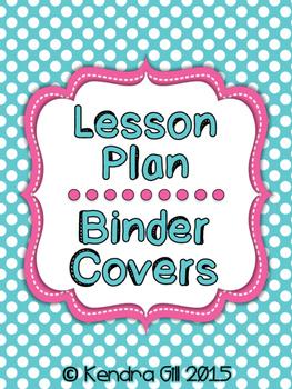 Music Binder Covers - Polka Dot Themed