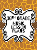 Music Binder Covers - Safari Themed
