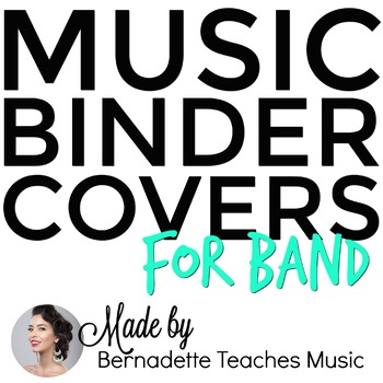 Music Binder Covers for Band Instruments