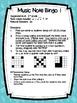 Music Note Bingo 1:  Ti-Ti, Ta, Half Note, Quarter Rest, H