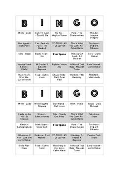 Music Bingo 2018