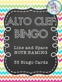 Music Bingo {Alto Clef Note Naming}