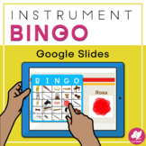 Music Bingo: Instruments of the Orchestra - Distance Learn