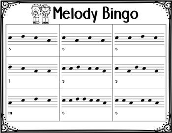 Music Bingo {Melody Bundle}