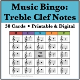Music Bingo - Treble Clef Notes