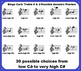 Music Bingo- Treble Sharp and Flat Fill-In Card