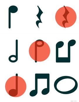 Music Note Bingo #1 for General Music, Band, Piano, Chorus or Orchestra