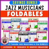 Black History Month Music Activities: FEMALE Jazz Musicians BUNDLE