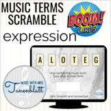 Music Boom Cards: Expression Terms Scramble