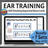 Music Boom Cards   Melodic Ear Training Games BUNDLE - Key of G