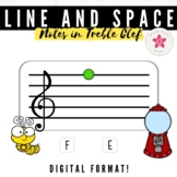 Music Boom Cards™ Name the Note | Treble Clef Line and Spa