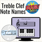 Music Boom Cards: Treble Clef Note Names