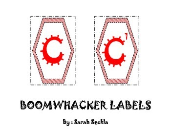 Music - Boomwhacker Labels - Printable
