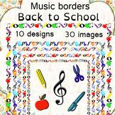 Music Borders: Back to School Theme.