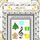 Music Borders: Christmas Theme.