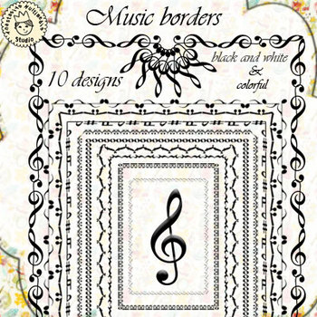 Music Borders (set 1)