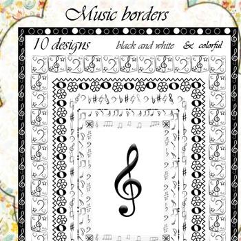 Music Borders (set 2)