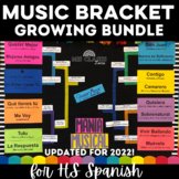 Growing Music Bracket BUNDLE for Spanish Class (Mania musical de marzo)