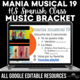 Music Bracket - mania musical 2019 in Spanish class