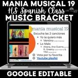 Music Bracket - mania musical 2019 in Spanish class
