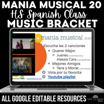 Music Bracket - mania musical 2020 in Spanish class