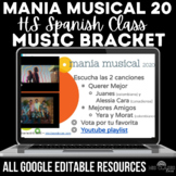 Music Bracket - mania musical 2020 in Spanish class - Distance Learning