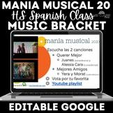 Music Bracket - mania musical 2020 in Spanish class - Dist