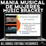 Music Bracket - mania musical de mujeres -Women's History Month in Spanish class