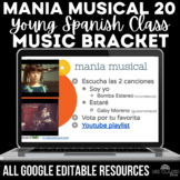 Music Bracket - mania musical for YOUNGER Spanish class