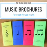 Music Brochures for Open House Night