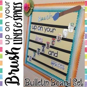 Music Bulletin Board: Brush Up on Your Lines and Spaces {Treble Clef}