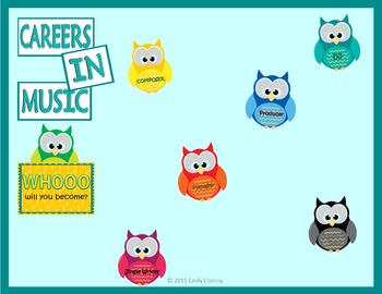 Music Careers Bulletin Board (FREEBIE!)