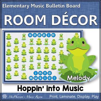 Music Bulletin Board Hoppin' into Music! {Music Room Décor}
