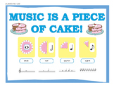 Music Is a Piece of Cake:  Music Bulletin Board Set
