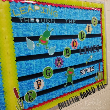Music Bulletin Board:Leaping Through the Lines and Spaces Bulletin Board