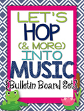 Music Bulletin Board:Let's Hop Into Music - Movement Word Wall