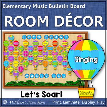 Music Bulletin Board Let's Soar! {Music Room Décor}