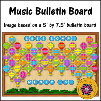 Music Bulletin Board Let's Soar! {Music Room Décor}