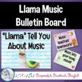 Music Bulletin Board Llama Theme
