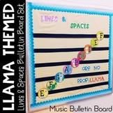 Music Bulletin Board: Llama Themed Lines and Spaces Bulletin Board