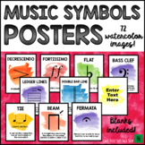 Music Bulletin Board: Music Symbols Music Posters